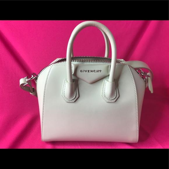 Givenchy Handbags - Givenchy mini antigona in mint leather d97376a93d4b2